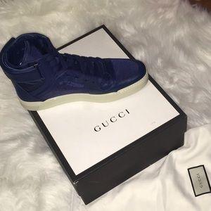 Gucci Men's Nylon Guccissima High-Top Sneaker US12